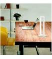 Lampada da tavolo in metallo verniciato bianco by Perenz